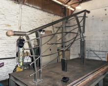 Garde-corps en acier laqué