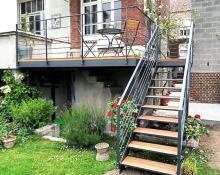 Terrasse extérieure autoportée