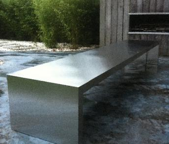 Table en inox