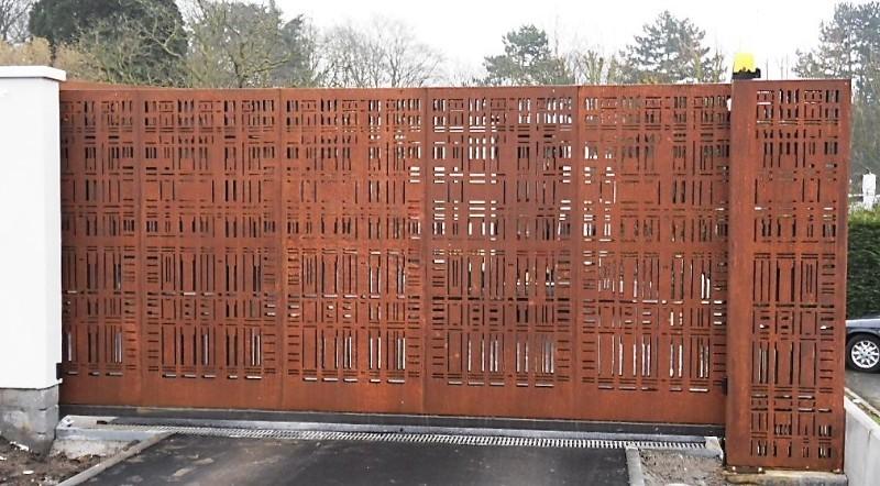 Portail m tallique nord pas de calais portail en acier for Portillon metallique jardin