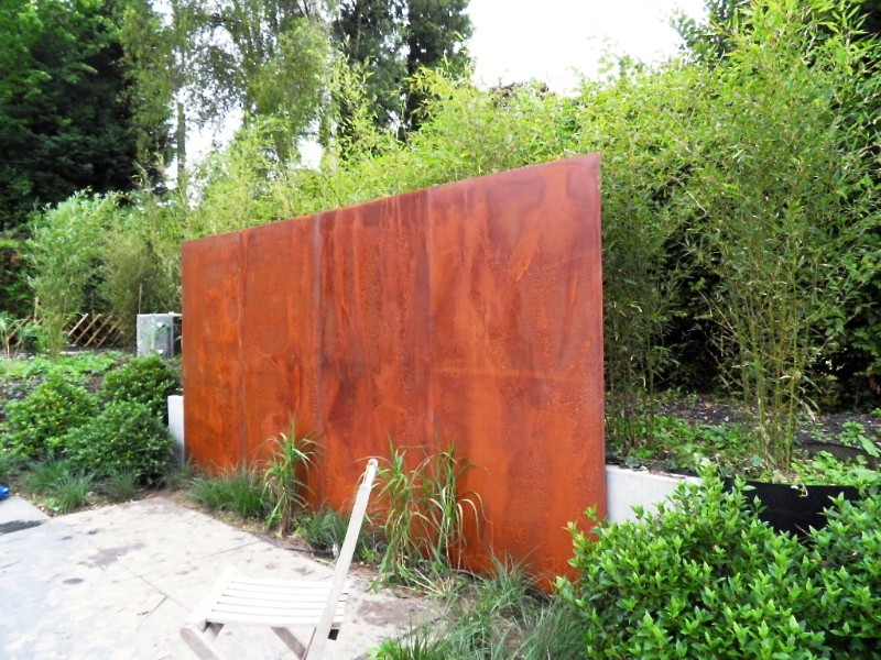 cloture acier corten applications jardin accueil design. Black Bedroom Furniture Sets. Home Design Ideas